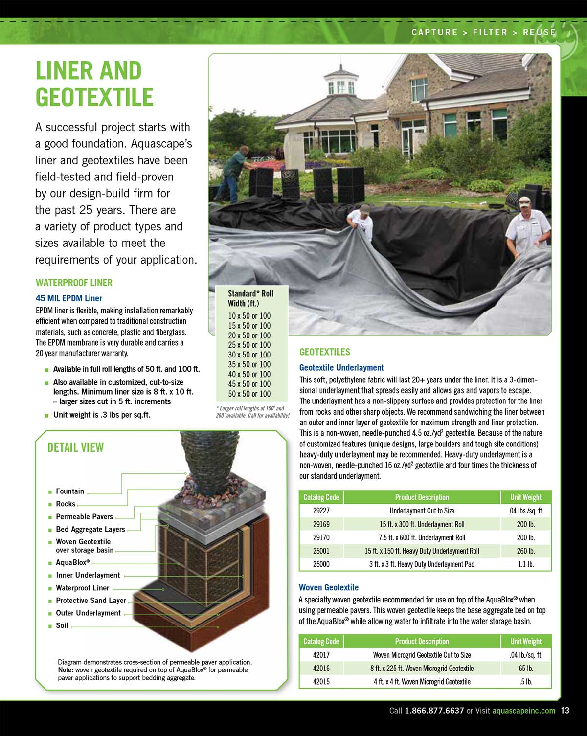 Rainwater collection featuring the Aquascape Rainwater