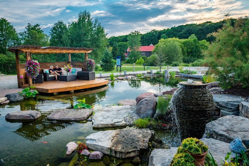 Relax by your custom-built pond or water feature